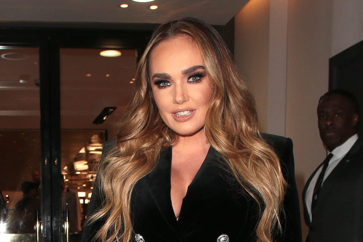 LONDON, ENGLAND - OCTOBER 16: Tamara Ecclestone and Jay Rutland seen attending Apothem x Harvey Nichols - launch party on October 16, 2019 in London, England. (Photo by Ricky Vigil M/GC Images)