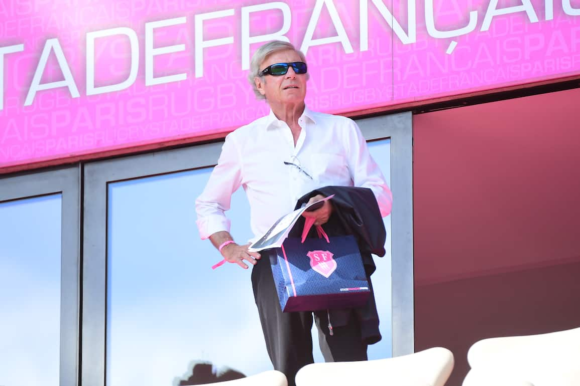 Stade Francais Paris owner Hans Peter Wild during the Top 14 match between Stade Francais Paris and RC Toulon at Stade Jean Bouin on September 24, 2017 in Paris, France. (Photo by Dave Winter/Icon Sport)