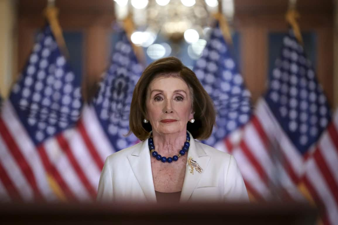 Speaker of the House Nancy Pelosi, D-Calif., arrives to make a statement at the Capitol in Washington, Thursday, Dec. 5, 2019. Pelosi announced that the House is moving forward to draft articles of impeachment against President Donald Trump.(AP Photo/J. Scott Applewhite)