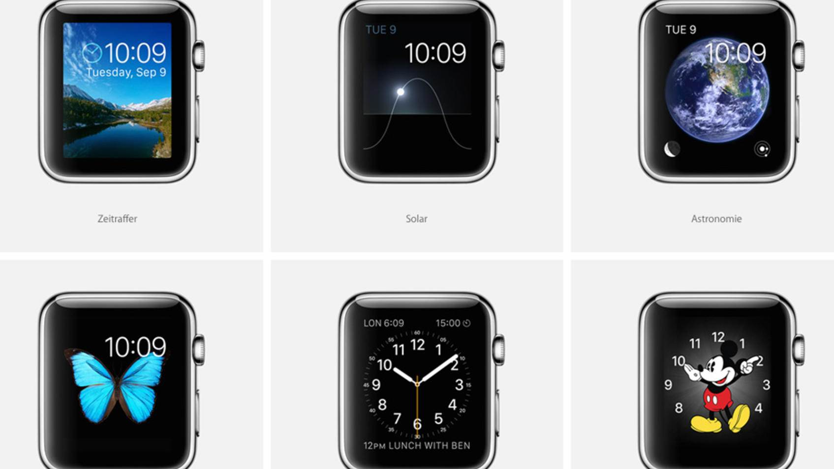 how to change display on apple watch