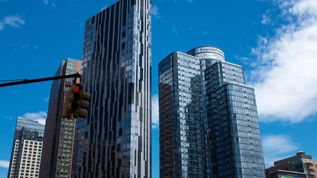 A general view of residential condo-towers in Downtown Brooklyn - the area has seen a surge in new high rise residential buildings in the past few years with more under construction. (Photo by Epics/Getty Images)