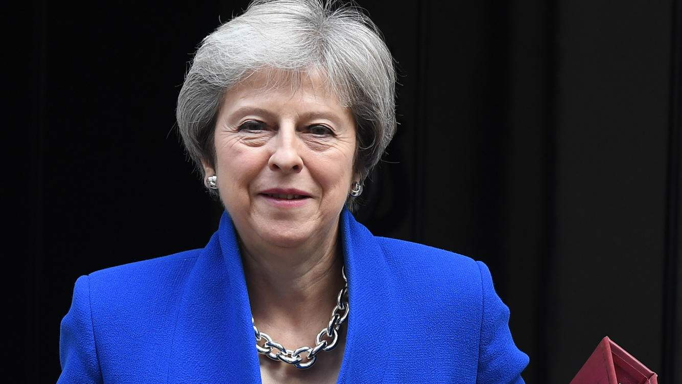 epa07163369 (FILE) - British Prime Minister Theresa May departs No. 10 Downing Street for a Prime Minster's Questions time at parliament in London, Britain, 24 October 2018 (reissued 13 November 2018). Reports suggest British Prime Minister Theresa May has secured a breakthrough in Brexit negotiations and is seeking the approval of ministers ahead of a cabinet meeting tomorrow.