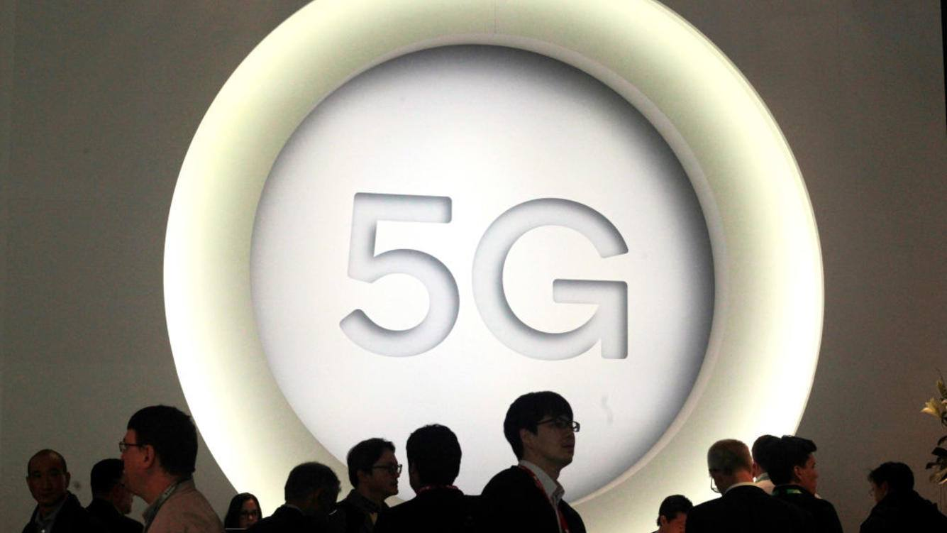 BARCELONA, SPAIN - FEBRUARY 27:  A 5G sign is pictured at the Quantum stand during the Mobile World Congress (MWC), the world's biggest mobile fair, on February 27, 2018 in Barcelona. The Mobile World Congress is held in Barcelona from February 26 to March 1.(Photo by Miquel Benitez/Getty Images)