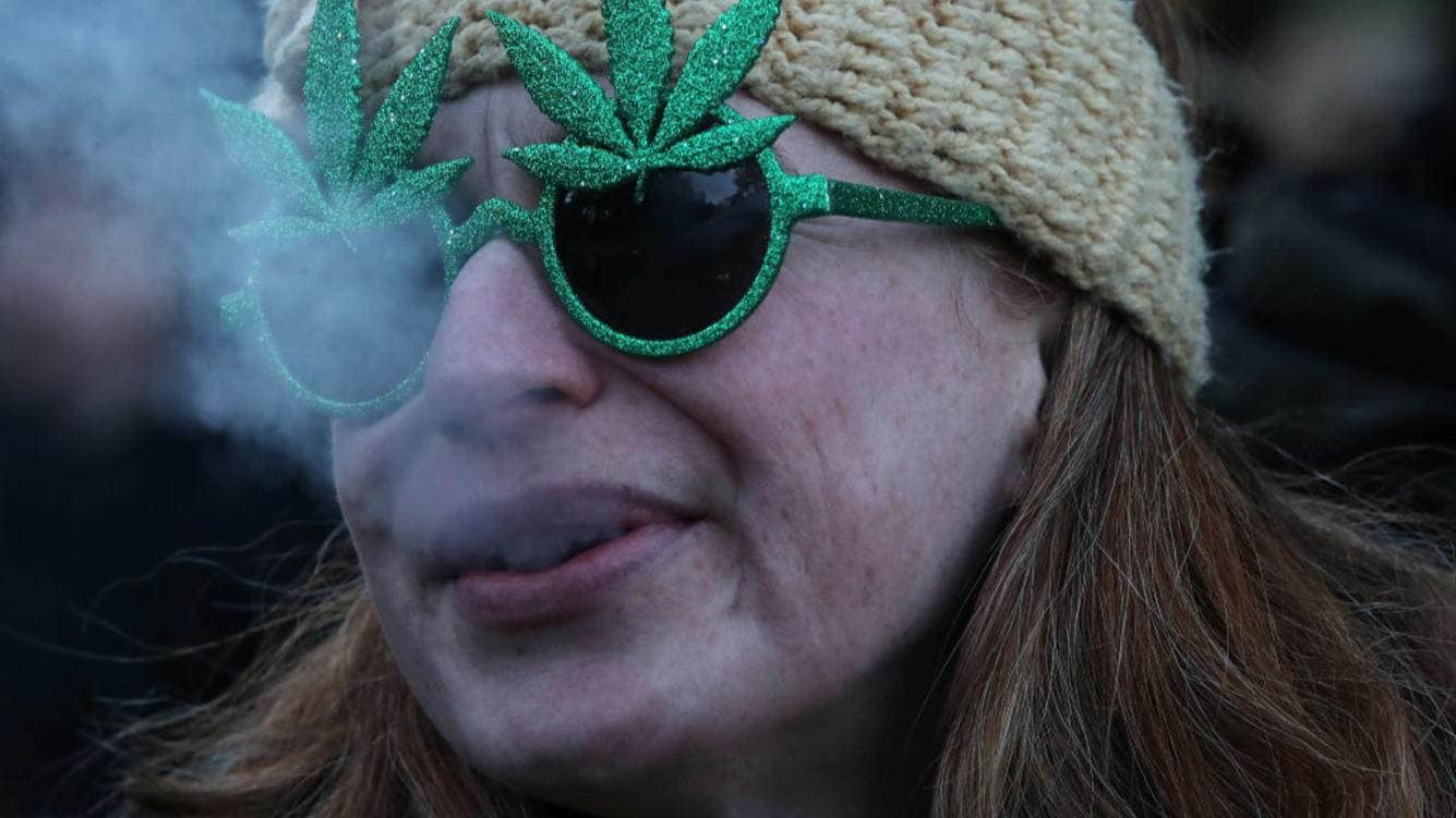 TORONTO, ON- OCTOBER 17  -  People gathered a 4:20 for a 420 celebration of legalization day of marijuana at Trinity Bellwoods  in Toronto. October 17, 2018.        (Steve Russell/Toronto Star via Getty Images)