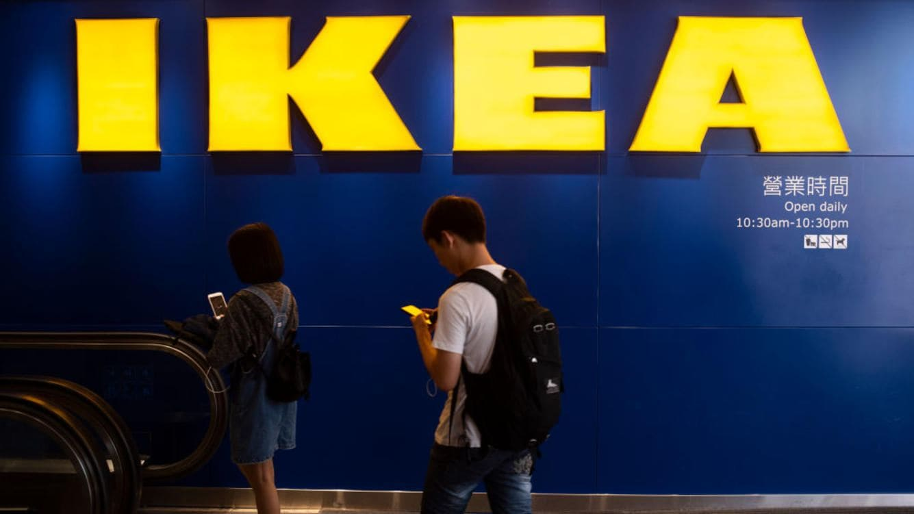 CAUSEWAY BAY, HONG KONG ISLAND, HONG KONG - 2018/08/24: People seen entering into Swedish Ikea furniture company store in Causeway bay, Hong Kong. (Photo by Miguel Candela/SOPA Images/LightRocket via Getty Images)