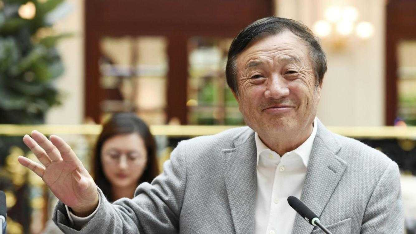 Huawei Technologies Co. founder and CEO Ren Zhengfei speaks at a press conference in Shenzhen, China, on Jan. 18, 2019. (Kyodo)==Kyodo(Photo by Kyodo News via Getty Images)