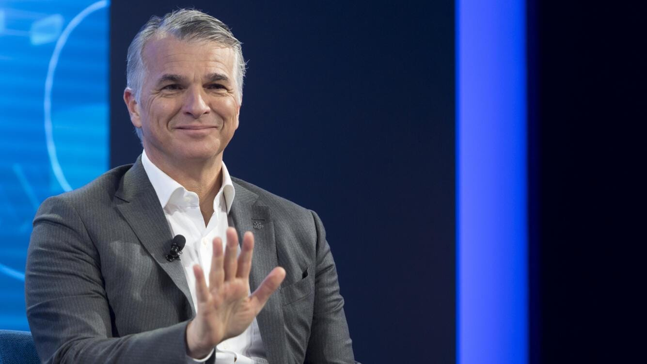 "Swiss bank UBS CEO Sergio P. Ermotti speaks during a panel session during the 49th Annual Meeting of the World Economic Forum, WEF, in Davos, Switzerland, Thursday, January 24, 2019. The meeting brings together entrepreneurs, scientists, corporate and political leaders in Davos under the topic ""Globalization 4.0"" from 22 - 25 January 2019. (KEYSTONE/Laurent Gillieron)"