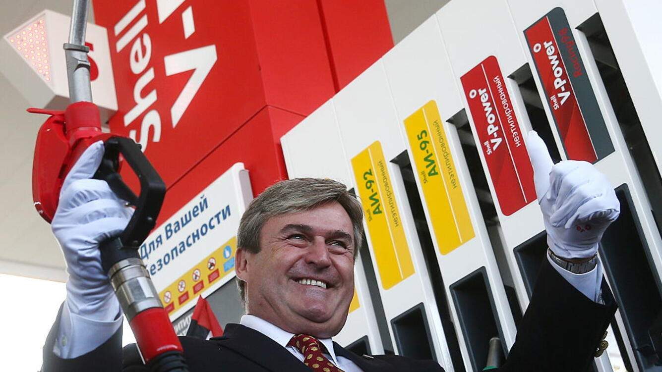 KAZAN, RUSSIA - OCTOBER 5, 2016: Shell Executive Vice-President Istvan Kapitany pictured during the opening of the first Shell fuel filling station in Tatarstan. Shell is an Anglo-Dutch multinational oil and gas company which is to expand its network in Russia up to 230 fuel filling stations this year. Yegor Aleyev/TASS (Photo by Yegor Aleyev\TASS via Getty Images)
