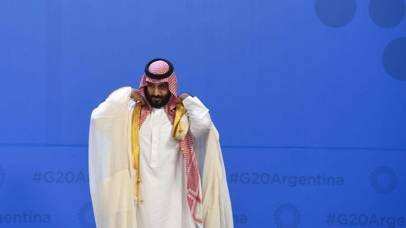 epa07200385 Crown Prince of Saudi Arabia Mohammad Bin Salman Al Saud waits for the family picture at the G20 summit in Buenos Aires, Argentina, 30 November 2018. The Group of Twenty (G20) Summit brings together the heads of State or Government of the 20 largest economies and takes place from 30 November to 01 December 2018.  EPA/LUKAS COCH  AUSTRALIA AND NEW ZEALAND OUT