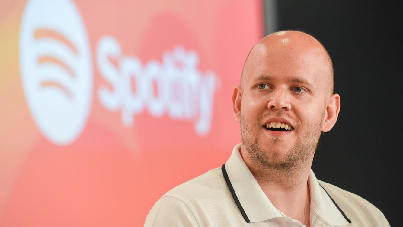 CANNES, FRANCE - JUNE 22:  Daniel Ek, founder and chief executive officer of Spotify, attends the Cannes Lions 2016 on June 22, 2016 in Cannes, France.  (Photo by Antoine Antoniol/Getty Images)