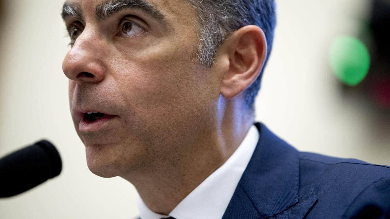 David Marcus, CEO of Facebook's Calibra digital wallet service, speaks during a House Financial Services Committee hearing on Facebook's proposed cryptocurrency on Capitol Hill in Washington, Wednesday, July 17, 2019. (AP Photo/Andrew Harnik).David Marcus