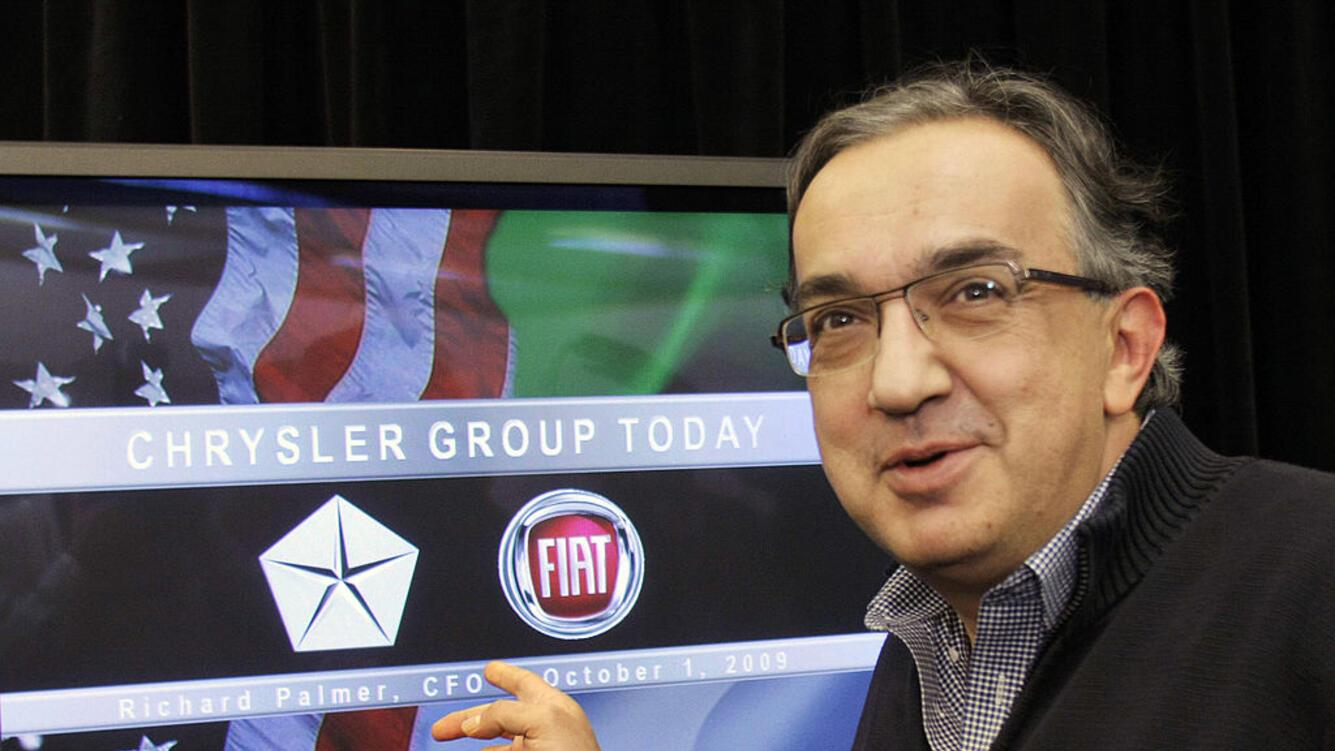 AUBURN HILLS, MI - SEPTEMBER 29: Chrysler CEO Sergio Marchionne attends a press conference at Chrysler headquarters October 1, 2009 in Auburn Hills, Michigan. Also attending was Claudio Scajola, the Italian Minister of Economic Development. (Photo by Bill Pugliano/Getty Images)