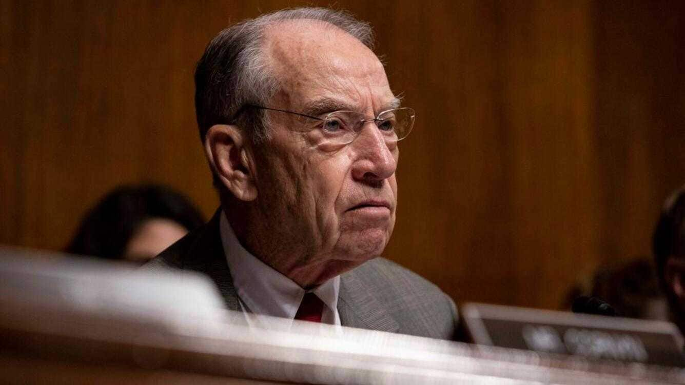 WASHINGTON, DC - JUNE 11:  Senator Chuck Grassley (R-IA), speaks during a Senate Judiciary Committee hearing with Acting Homeland Security Secretary Kevin McAleenan on Capitol Hill on June 11, 2019 in Washington, DC. Members of the committee and the witness discussed the Secure and Protect Act of 2019 and how it would fix the crisis at the U.S. Southern Border. (Photo by Anna Moneymaker/Getty Images)