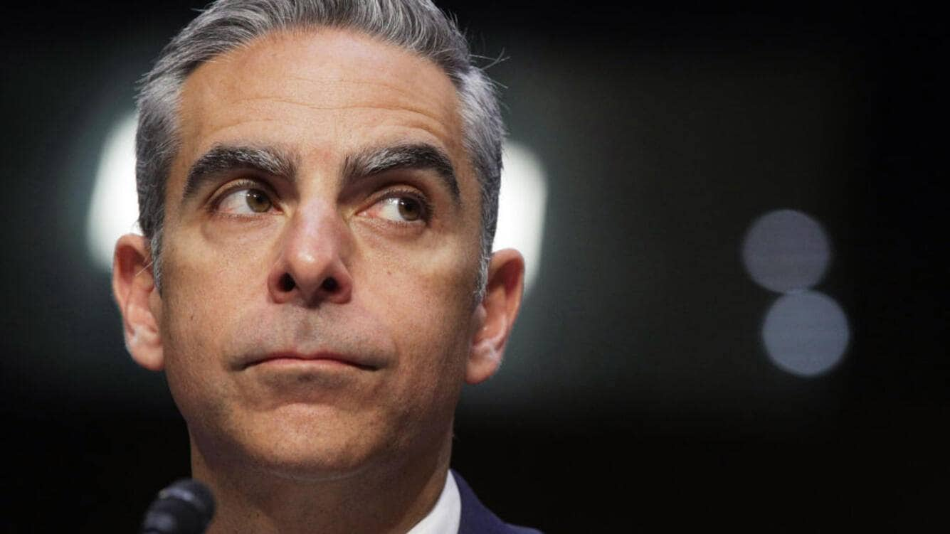 """WASHINGTON, DC - JULY 16:  Head of Facebook's Calibra David Marcus testifies during a hearing before Senate Banking, Housing and Urban Affairs Committee July 16, 2019 on Capitol Hill in Washington, DC. The committee held the hearing on """"Examining Facebook's Proposed Digital Currency and Data Privacy Considerations.""""  (Photo by Alex Wong/Getty Images)"""