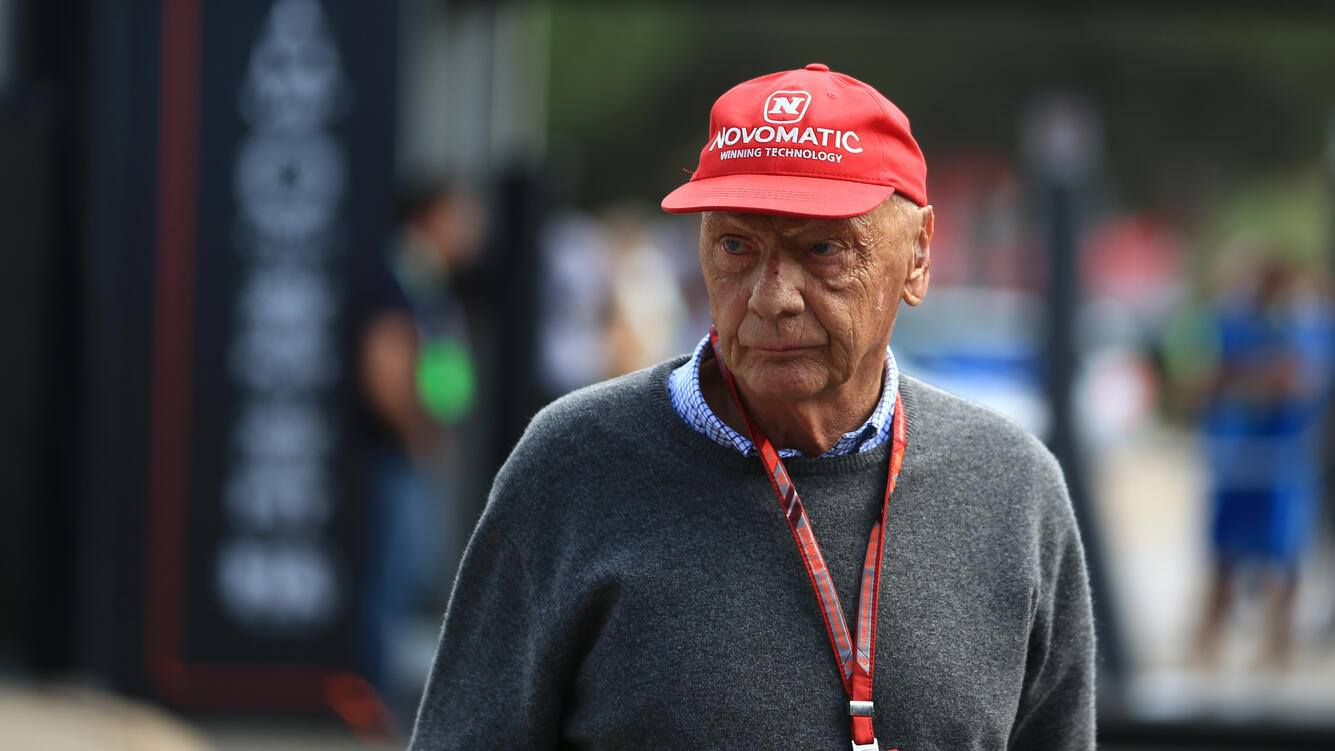 24th June 2018, Circuit Paul Ricard, Le Castellet, France; French Formula One Grand Prix, race day; Niki Lauda  (photo by Octane/Action Plus via Getty Images) ;
