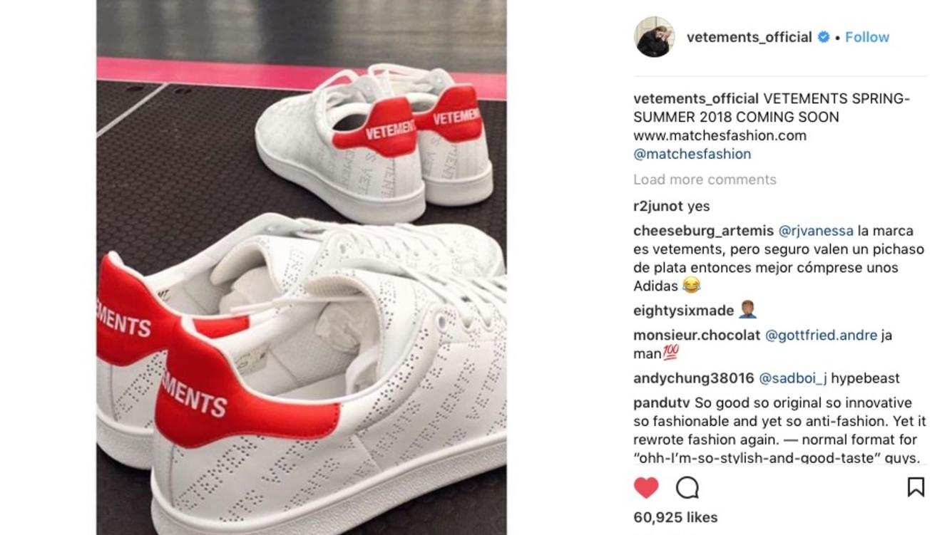 Macht Mit «stan Kopie Auf Smith» Adidas Vetements Konfrontation 9e2YWDHIE