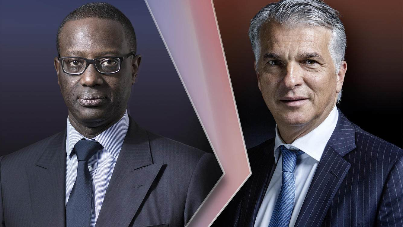 CS-Chef Tidjane Thiam (links) und UBS-Chef Sergio Ermotti.