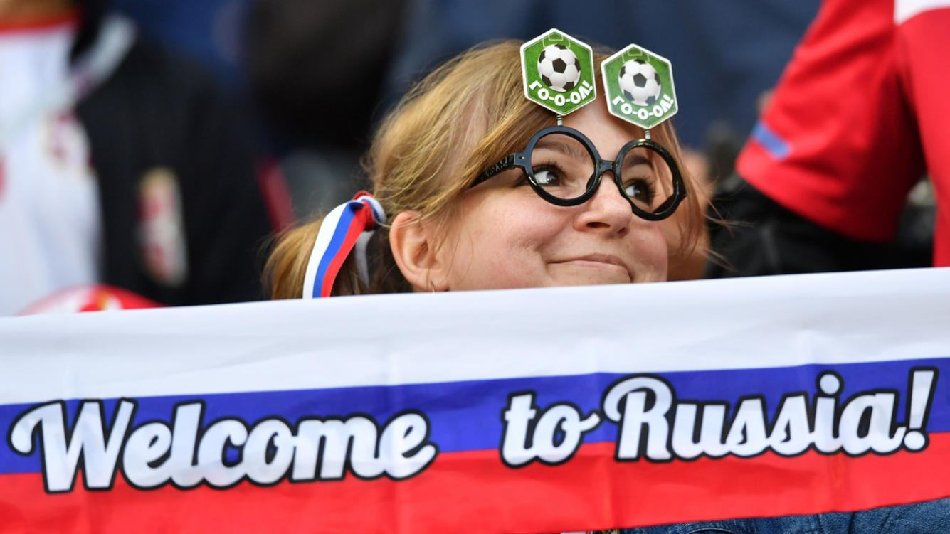 Fan an der Fussball-WM in Russland