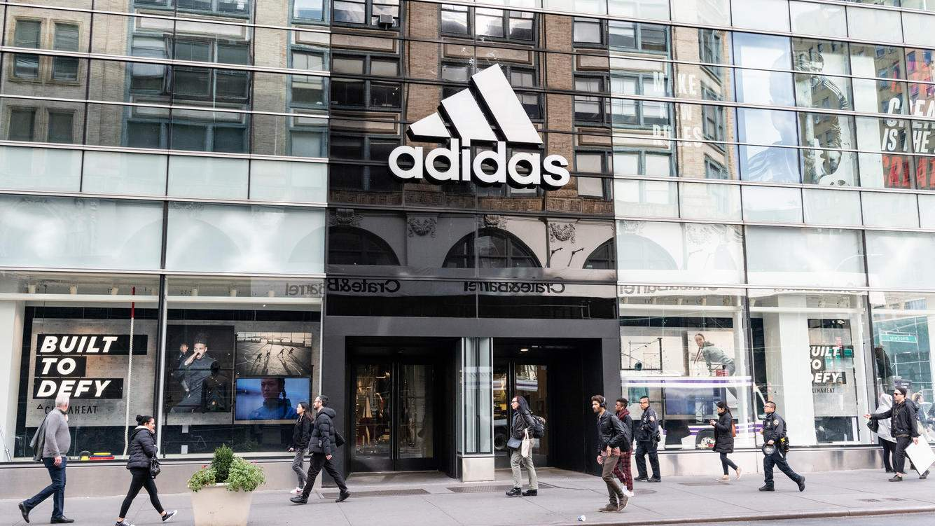 NEW YORK, NY, UNITED STATES - 2018/10/23: Adidas store in the SoHo neighbourhood of New York City. (Photo by Michael Brochstein/SOPA Images/LightRocket via Getty Images)