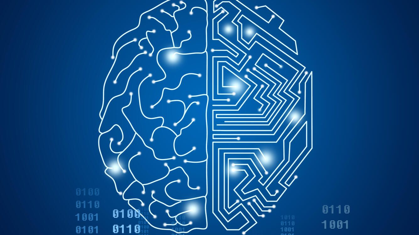 Human Brain Covered with NetworksArtificial Intelligence