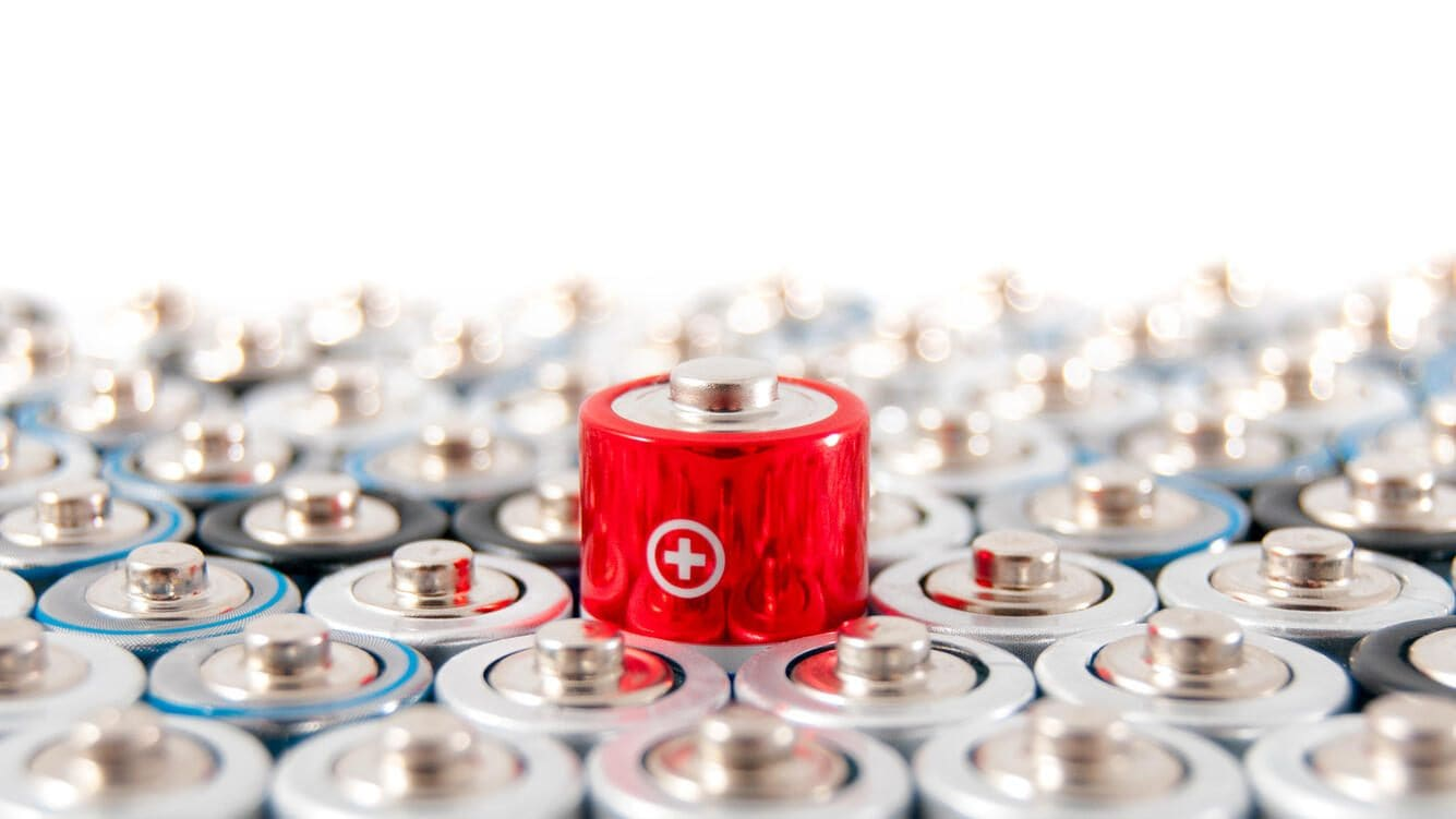 alkaline batteries with a focus on a single battery