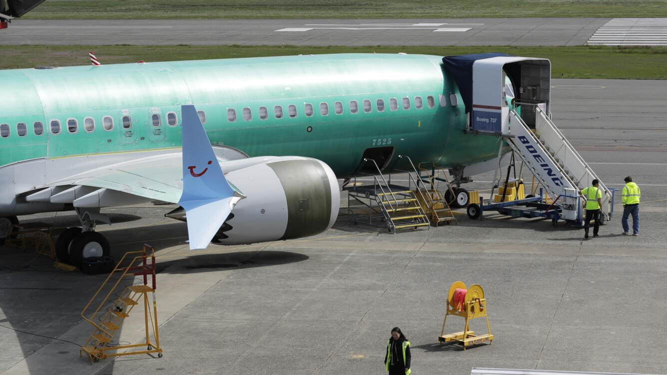 Boeing 737 MAX 8 TUI fly airplane being built for TUI Group