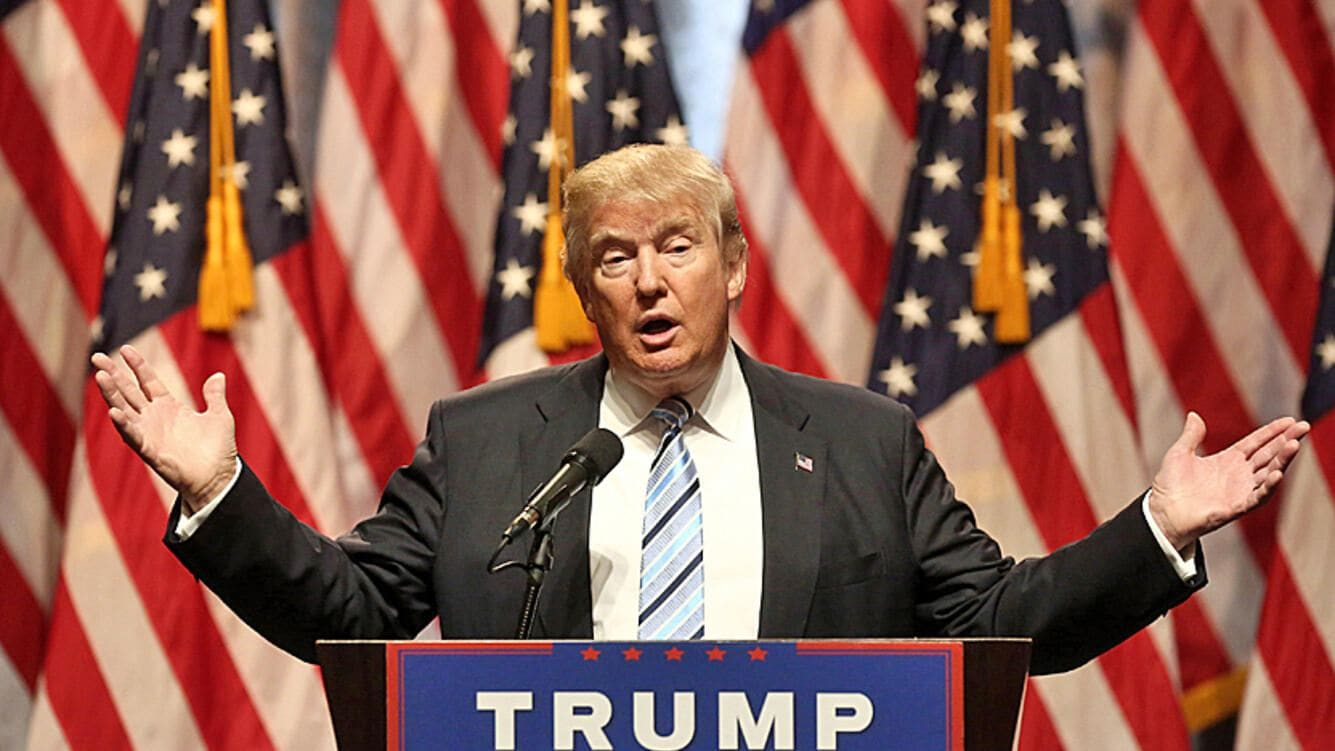 Donald Trump, presumptive 2016 Republican presidential nominee, speaks during a campaign event in New York, U.S., on Saturday, July 16, 2016.
