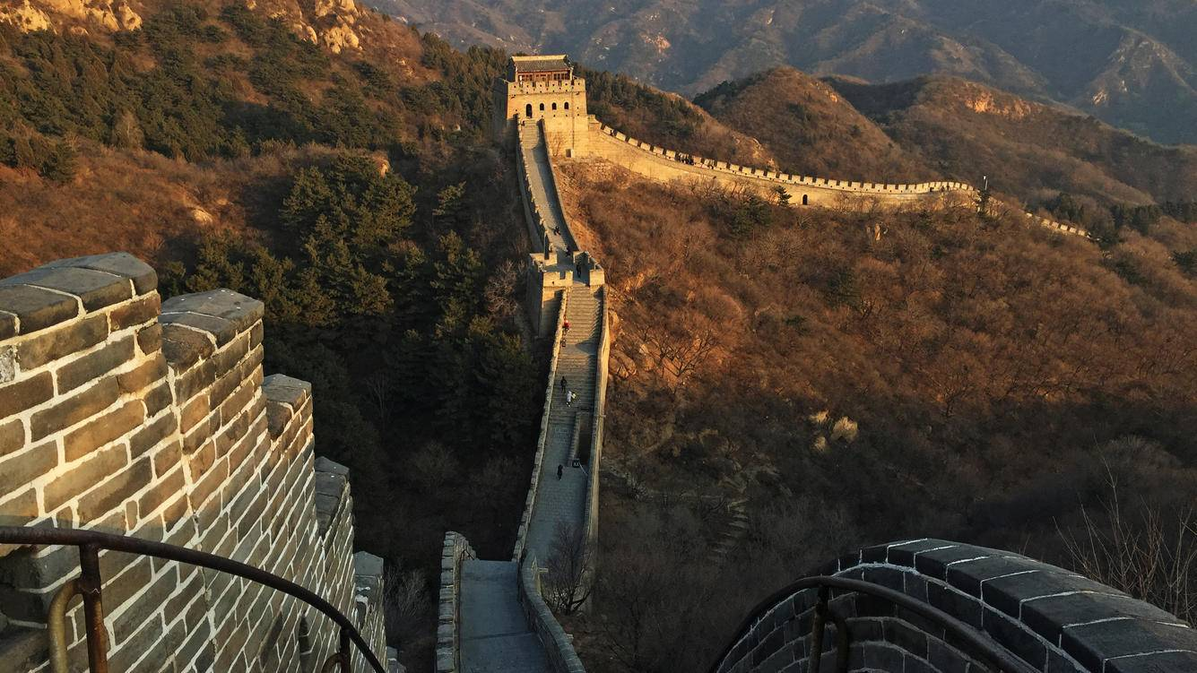 A view of the famous Badaling Great Wall on February 18, 2017 in Beijing, China.