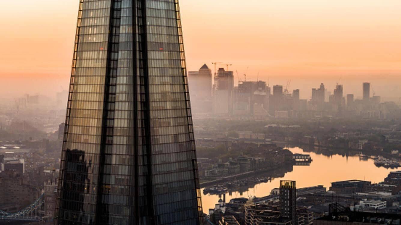 City of London, London, Shard and Thames, Sunrise