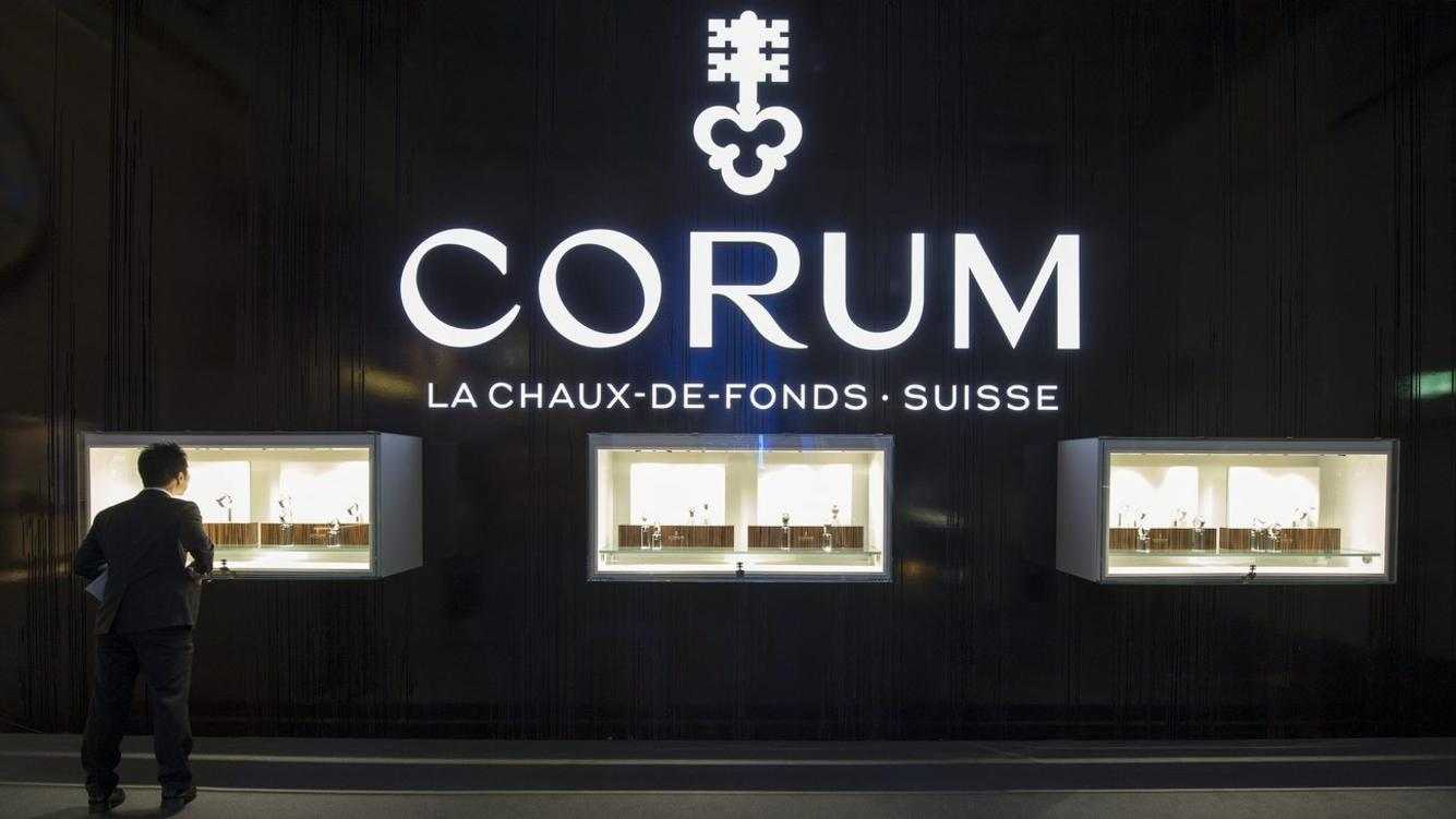 View of the Corum booth pictured on the press day at the world watch and jewellery show Baselworld in Basel, Switzerland, on Wednesday, April 24, 2013. Baselworld opens it's doors from April 25 to May 2, 2013. (KEYSTONE/Georgios Kefalas)