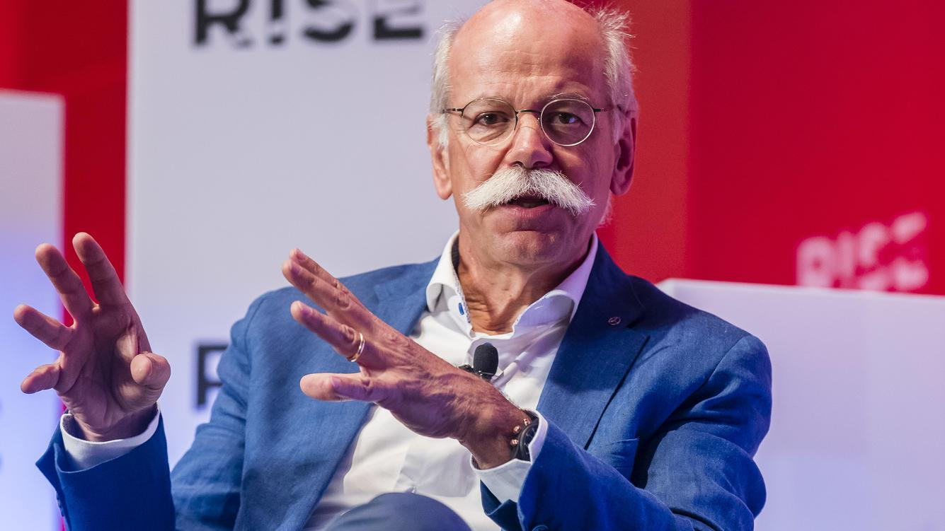 HONG KONG, HONG KONG - JULY 10: Dieter Zetsche, chairman of the board of management of Daimler AG, Head of Mercedes-Benz Cars, of Mercedes-Benz Cars, attends the Day 1 of the RISE Conference 2018 at Hong Kong Convention and Exhibition Center on July 10, 2018 in Hong Kong, Hong Kong. (Photo by S3studio/Getty Images)