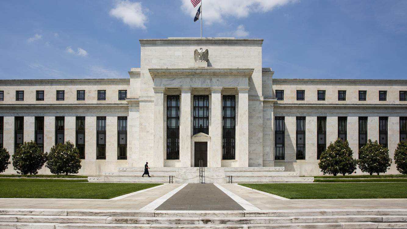 WASHINGTON, DC - June 2:   The Eccles Building,  location of the Board of Governors of the Federal Reserve System and of the Federal Open Market Committee,  June 2, 2016 in Washington, DC. (Photo by Brooks Kraft/ Getty Images)
