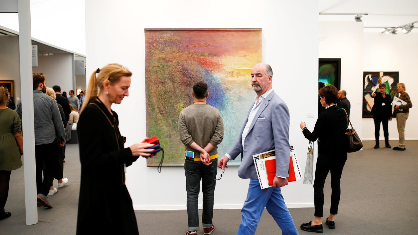 Visitors attend the annual Frieze London art fair in London, Britain October 7, 2018. REUTERS/Henry Nicholls