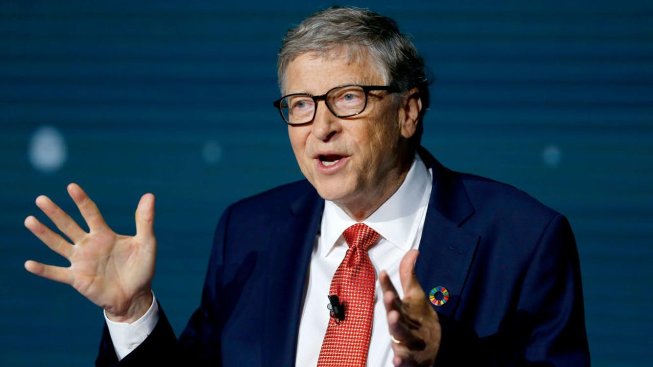 Bill Gates speaks onstage during the Goalkeepers 2018 event, at Jazz at Lincoln Center on September 26, 2018 in New York City