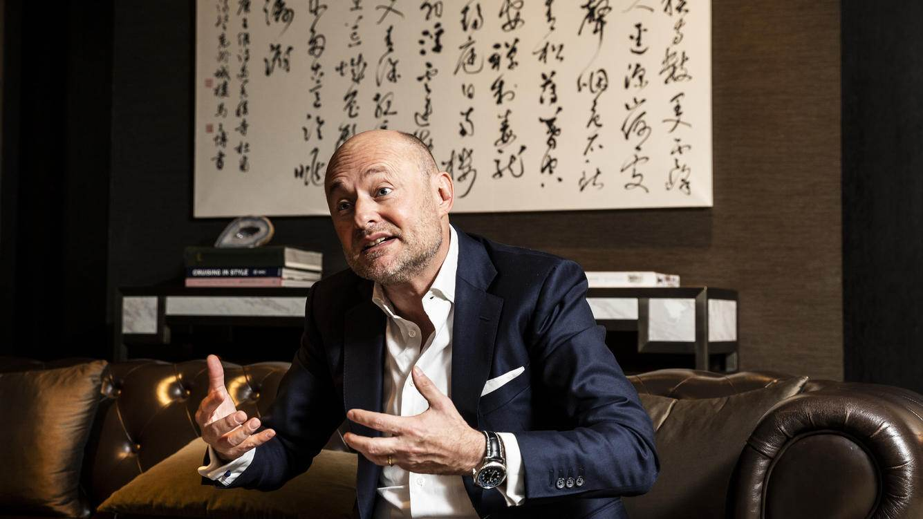 PEKING, CHINA, 20.11.2018 - Breitling CEO Georges Kern beim Interview im Rosewood Hotel in Peking, China. PHOTO BY PASCAL MORA