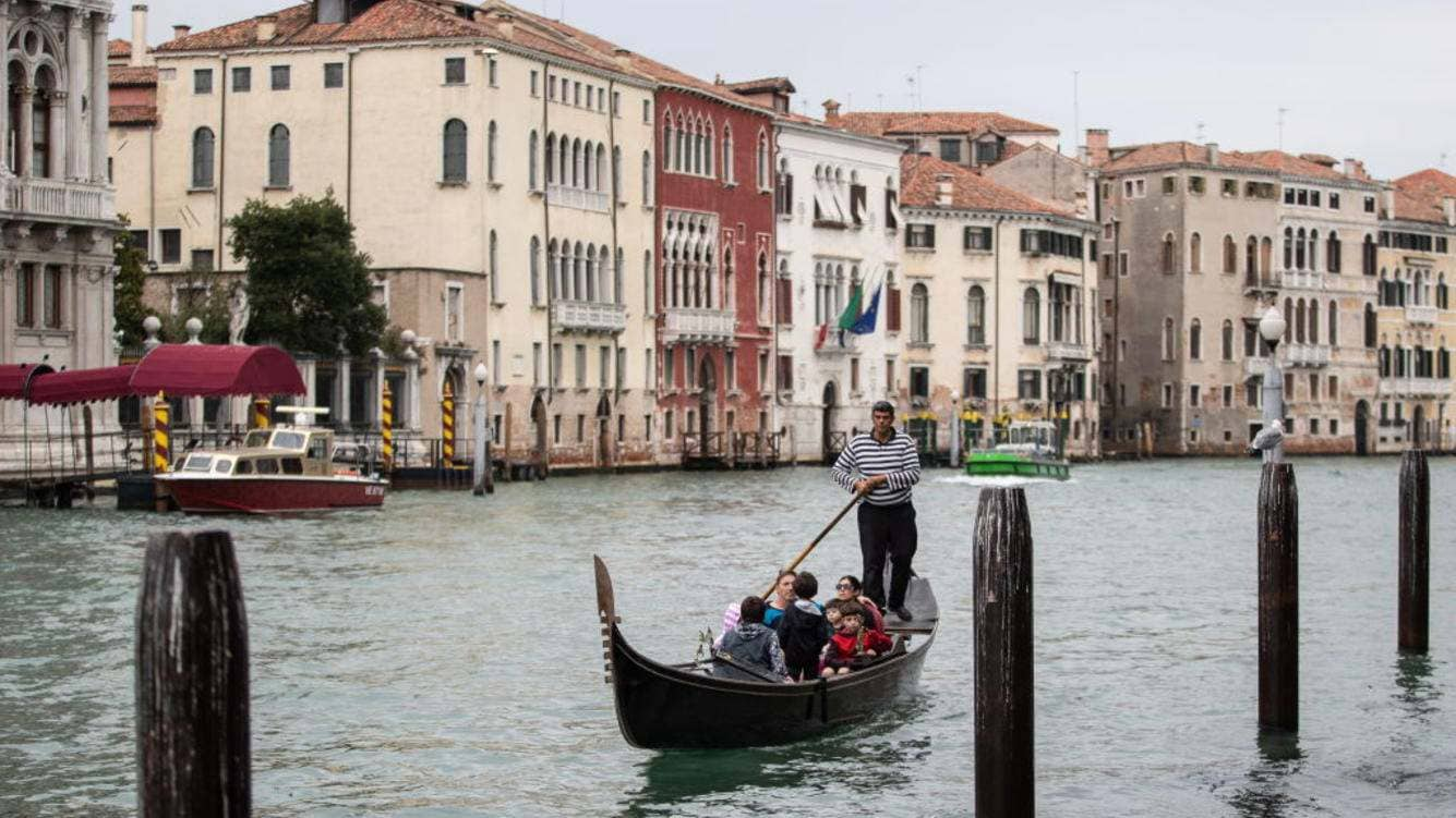 VENICE, ITALY - OCTOBER 26, 2018: A gondola on the Grand Canal. Sergei Bobylev/TASS (Photo by Sergei Bobylev\TASS via Getty Images)