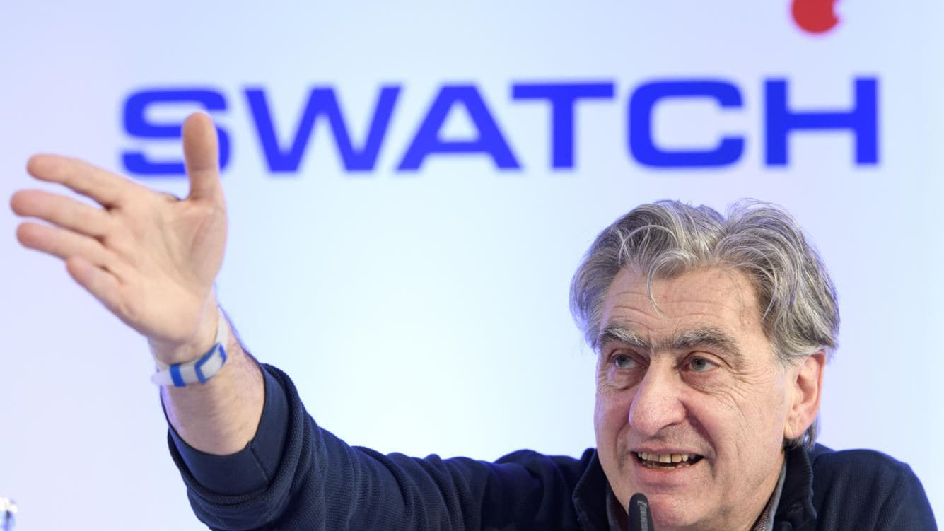Nick Hayek, CEO Swatch Group, President of the Swatch Group Executive Management Board speaks during a press conference of the year 2017 final results of Swiss watch company Swatch Group, in Biel, Switzerland, this Wednesday, March 14, 2018. (KEYSTONE/Anthony Anex)