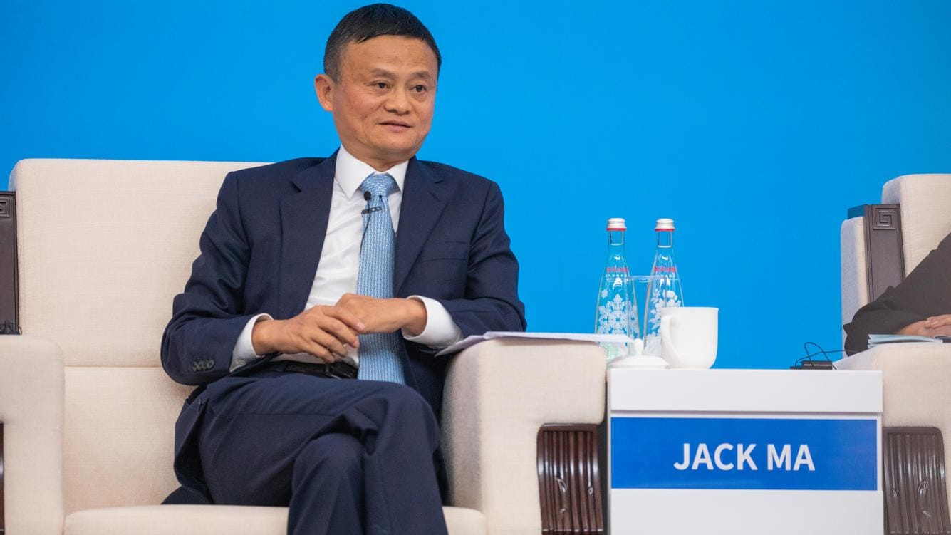 SHANGHAI, CHINA - NOVEMBER 05: Alibaba Chairman Jack Ma attends the Hongqiao International Economic and Trade Forum during the opening of China International Import Expo (CIIE) at the National Exhibition and Convention Center on November 5, 2018 in Shanghai, China. The first China International Import Expo is held on November 5-10 in Shanghai. (Photo by VCG/VCG via Getty Images)