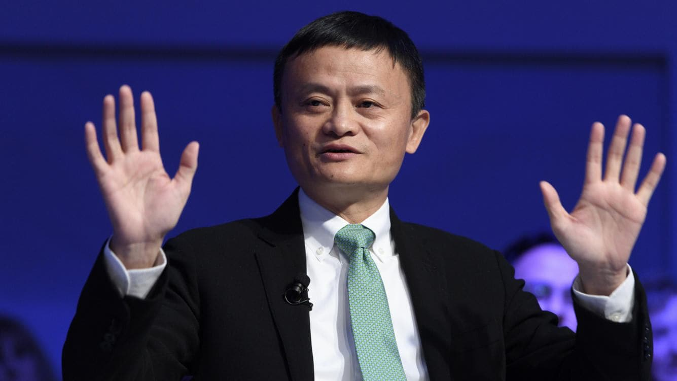 China's Jack Ma, Founder and Executive Chairman of Alibaba Group speaks during a panel session during the 47th annual meeting of the World Economic Forum, WEF, in Davos, Switzerland, Wednesday, January 18, 2017. The meeting brings together enterpreneurs, scientists, chief executive and political leaders in Davos January 17 to 20.(KEYSTONE/Laurent Gillieron)