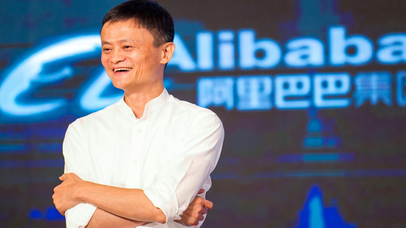 SHANGHAI, CHINA - JUNE 04:  (CHINA OUT) Jack Ma, founder and Executive Chairman of Alibaba Group, speaks during the signing ceremony between
