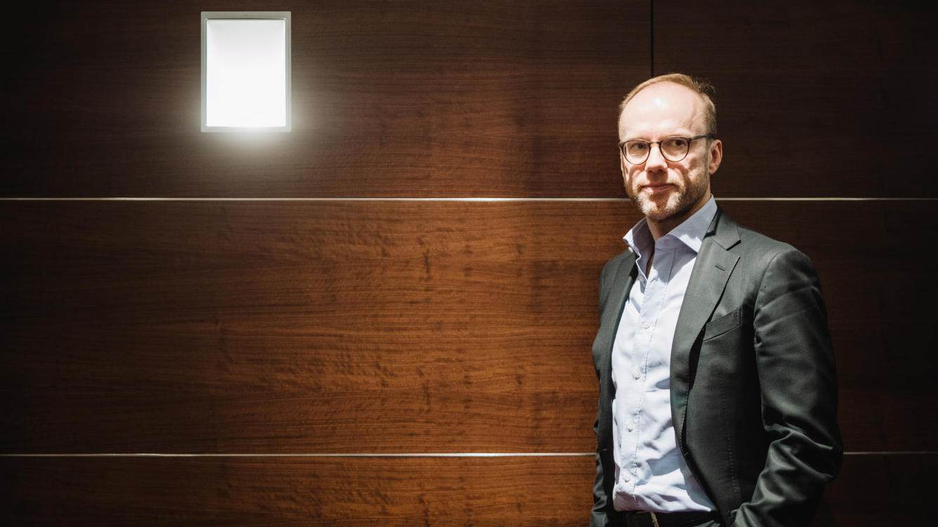Lars Foerberg, Gruender des schwedischen Investors Cevian. Europa, Deutschland, Nordrhein-Westfalen, Duesseldorf, 12.01.2018. Engl.: Lars Foerberg, businessman, managing partner and co-founder of Cevian Capital, a Swedish hedge fund (investor), portrait in Duesseldorf, Germany, Europe, 12 January 2018. economy, finances