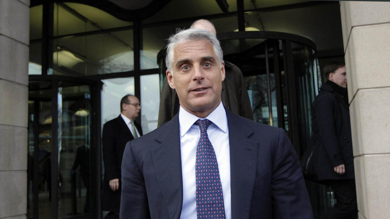 Chief Executive Officer of UBS, Andrea Orcel leaves Portcullis House in London after giving evidence on banking standards to the Parliamentary Commission on Banking Standards, Wednesday, Jan. 9, 2013. The chief executive of UBS's investment bank told British MPs on Wednesday that bankers had become too arrogant and that the industry has to change. (AP Photo/Sang Tan)