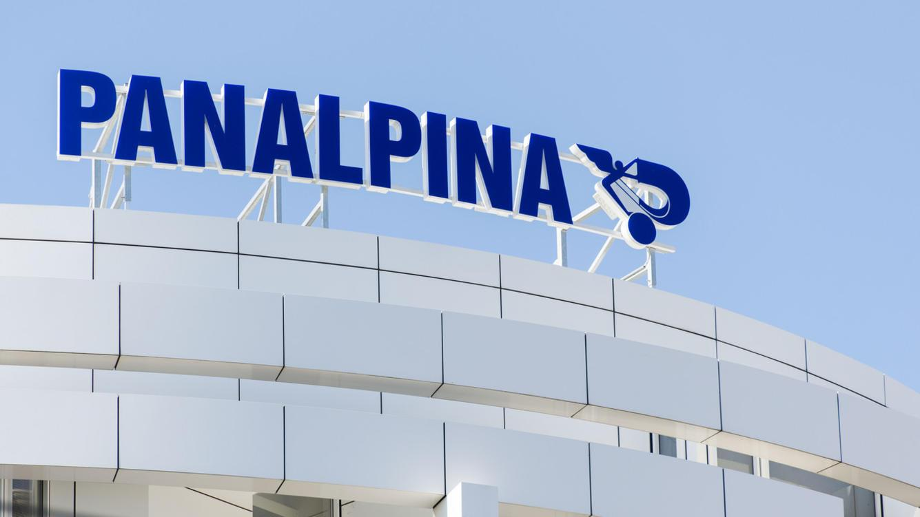 Panalpina Logo at the headquarters in Basel, Switzerland, September 5, 2013. (KEYSTONE/Christian Beutler)Panalpina Hauptsitz in Basel, aufgenommen am 5. September 2013.  (KEYSTONE/Christian Beutler)