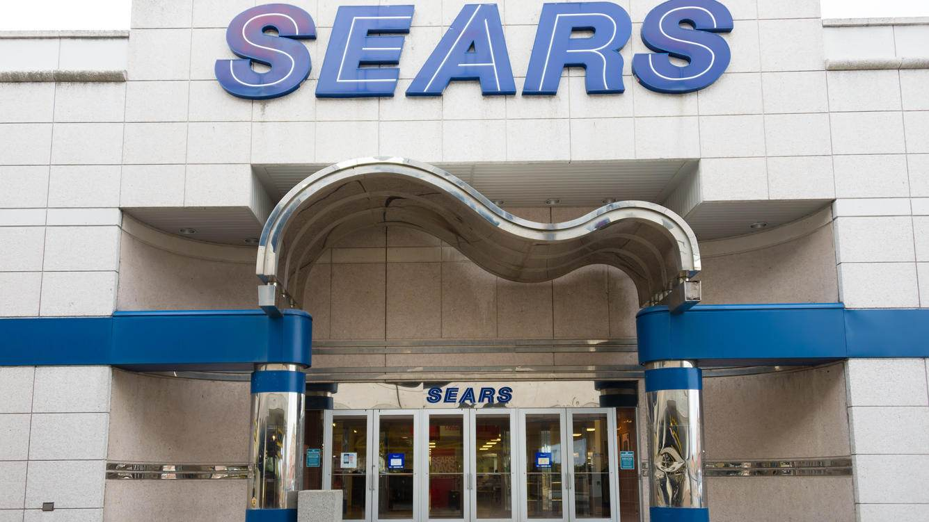 TORONTO, ONTARIO, CANADA - 2014/09/17: Sears store entrance. Sears, Roebuck & Co. is an American multinational department store chain.The company was founded by Richard Warren Sears in 1886. (Photo by Roberto Machado Noa/LightRocket via Getty Images)