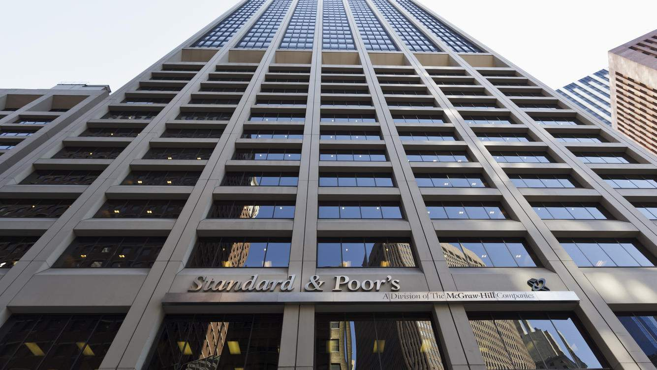 The headquarters of Standard and Poors in New York. Standard & Poor's (S&P) is a United States-based financial services company. It is a division of The McGraw-Hill Companies that publishes financial research and analysis on stocks and bonds. It is well known for the stock market indexes, the US-based S&P 500, the Australian S&P/ASX 200, the Canadian S&P/TSX, the Italian S&P/MIB and India's S&P CNX Nifty. (Photo by James Leynse/Corbis via Getty Images)