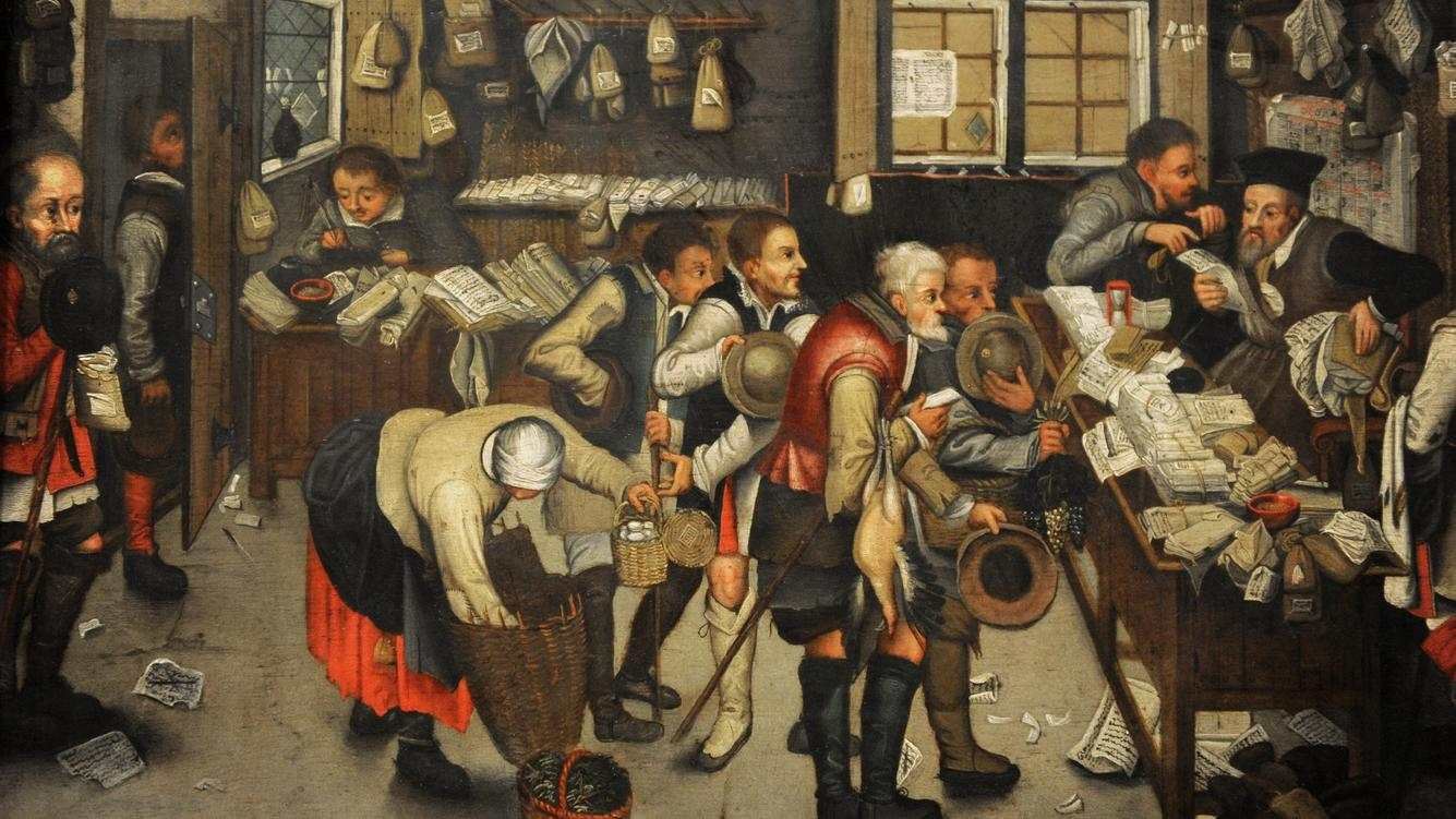 Pieter Brueghel the Younger (1564-1636). Flemish painter. The Collector's Office, after 1615. German Historical Museum. Berlin. Germany. (Photo by: Prisma/UIG via Getty Images)
