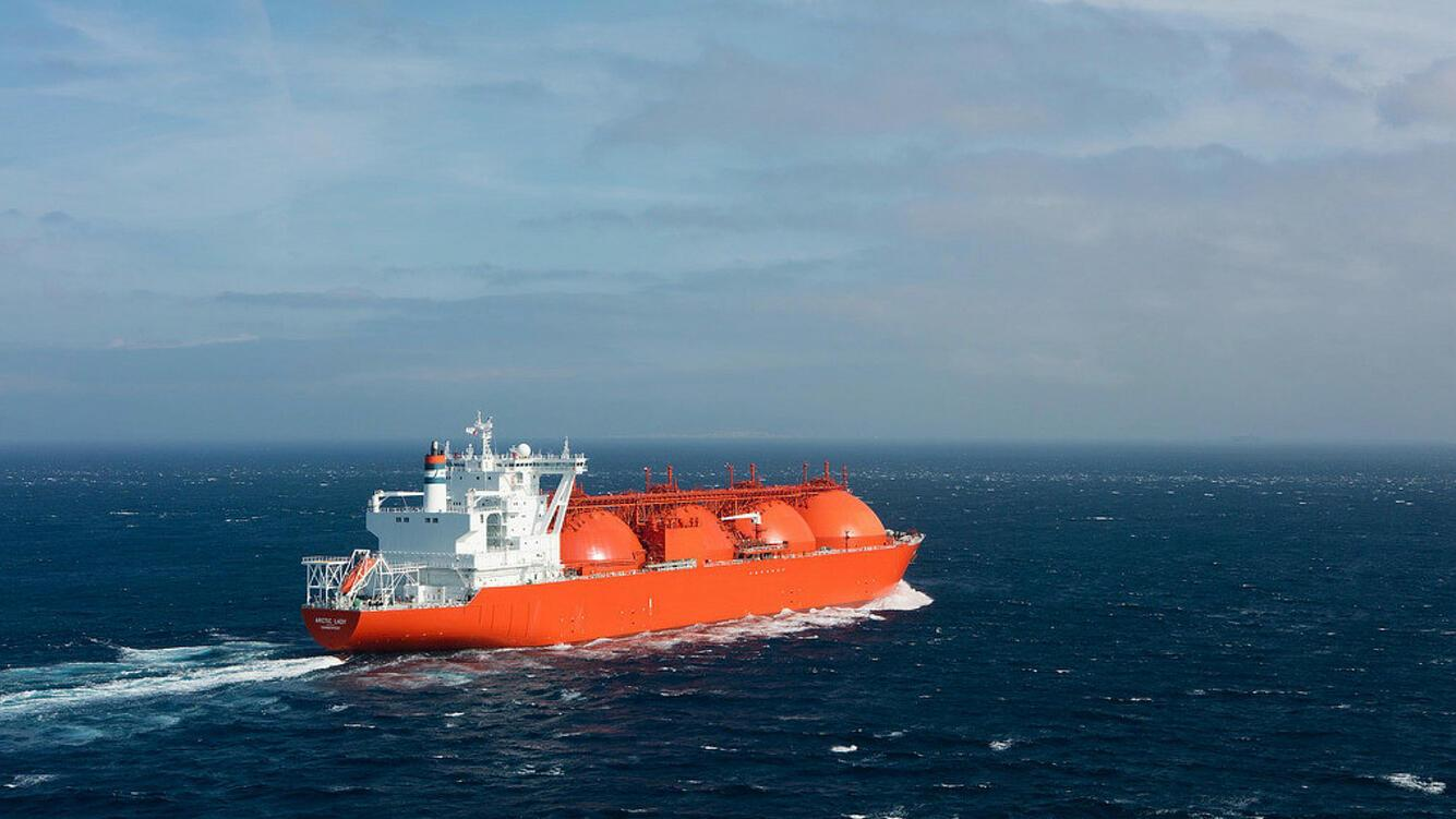 Total LNG Transportschiff