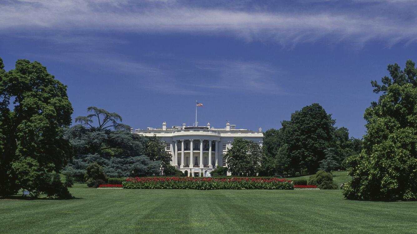 South Facade of the White House, 1800, by James Hoban (1762-1831), Washington DC, District of Columbia, United States of America, 19th century.
