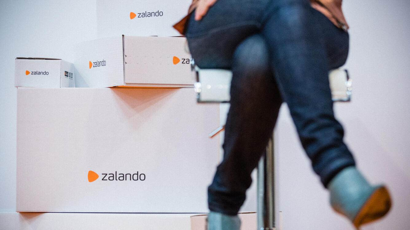 MOISSY CRAMAYEL, FRANCE - MARCH 09:  Delphine Mousseau, Vice President of Markets of Zalando, the German specialist in ready to wear online retailing inaugurates their first French logistics hub on March 9, 2017 in Moissy Cramayel, France.  (Photo by Aurelien Morissard/IP3/Getty Images)