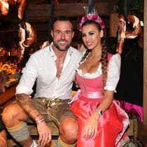 MUNICH, GERMANY - OCTOBER 05: Fashion designer Philipp Plein and his girlfriend Lucia Bartoli during the Oktoberfest 2019 at Kaeferschaenke beer tent / Theresienwiese on October 5, 2019 in Munich, Germany. (Photo by Gisela Schober/Getty Images)